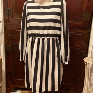 Lovely striped black and white dress